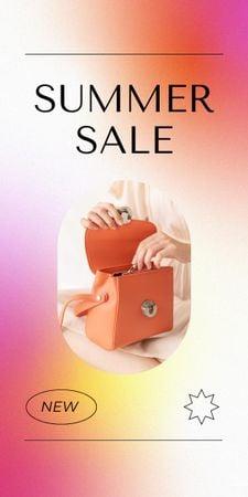 Designvorlage Summer Sale Ad with Stylish Female Bag für Graphic