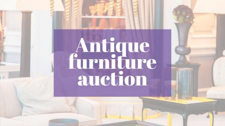 Template di design Antique Furniture Auction Vintage Wooden Pieces Youtube
