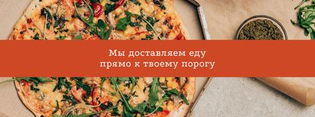 Italian Pizza delivery services Facebook cover – шаблон для дизайна