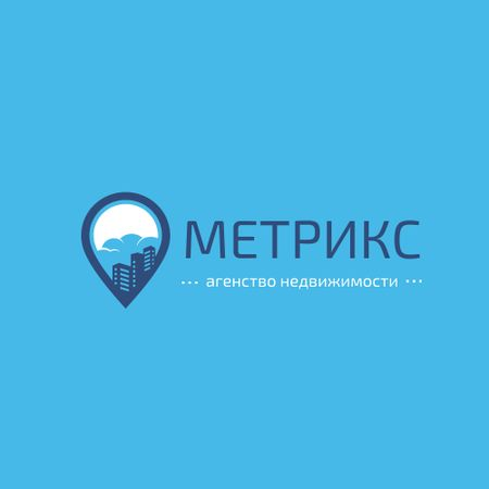 Real Estate Agency with City in Map Pin Logo – шаблон для дизайна