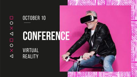 Ontwerpsjabloon van FB event cover van Virtual Reality Conference Announcement