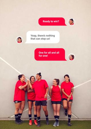 Successful Girls' Football team Poster – шаблон для дизайну