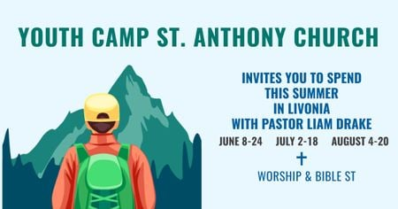Youth religion camp of St. Anthony Church Facebook AD – шаблон для дизайна