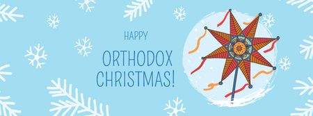 Plantilla de diseño de Orthodox Christmas Greeting with Festive Star Facebook cover