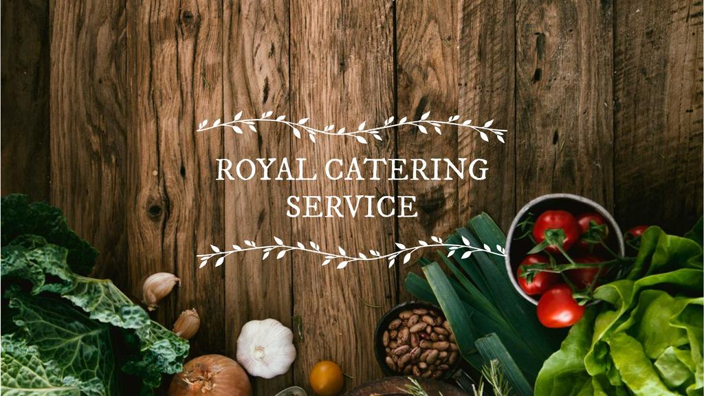Catering Service Ad with Vegetables on Table Youtube – шаблон для дизайну