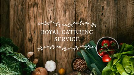 Catering Service Ad with Vegetables on Table Youtube Design Template