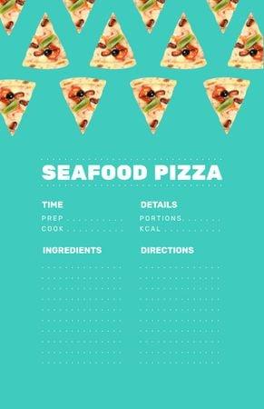 Modèle de visuel Seafood Pizza Cooking Steps - Recipe Card