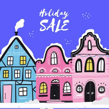 Holiday Sale with Winter Town