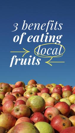 Modèle de visuel Local Fruits Ad with Fresh Apples - Instagram Story