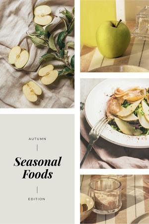 Seasonal Dish with Apples Pinterestデザインテンプレート