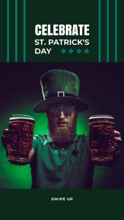 St.Patrick's Day Holiday Celebration Instagram Story Tasarım Şablonu