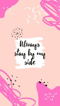 Motivational Quote on pink