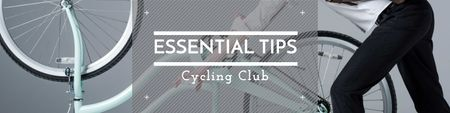 Cycling club tips with Cyclist Twitter Modelo de Design