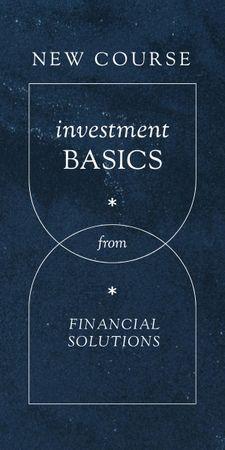 Finances and Investment Course promotion Graphic Tasarım Şablonu