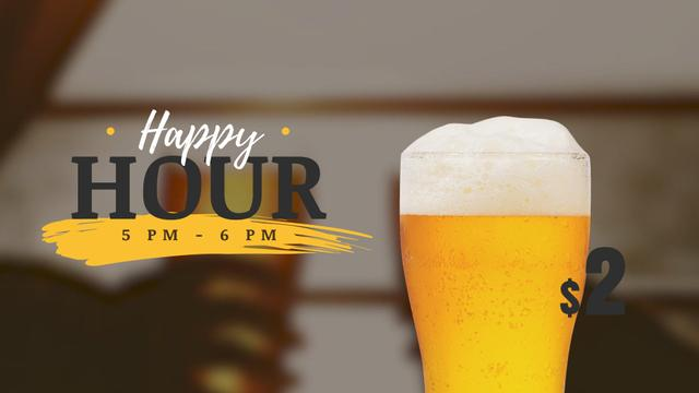 Template di design Brewery Invitation with Beer in Glass Full HD video