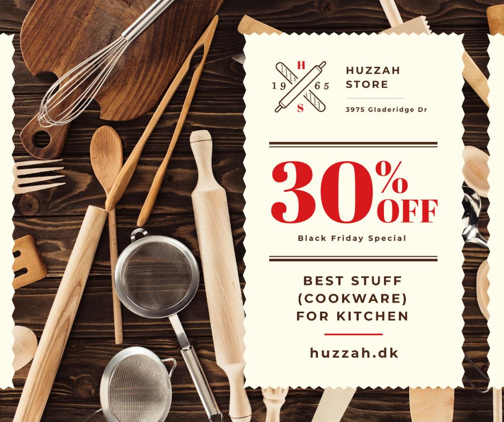 Black Friday Offer Kitchenware Sale — Modelo de projeto