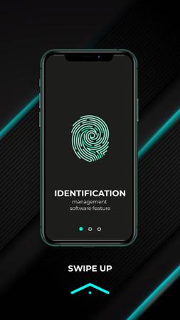 Template di design Fingerprint on Phone Screen Instagram Video Story