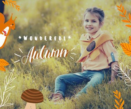 Autumn Inspiration with Cute Little Girl Facebook – шаблон для дизайна