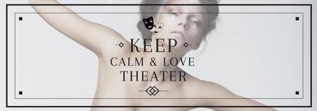 Plantilla de diseño de Theater Quote Woman Performing in White Tumblr