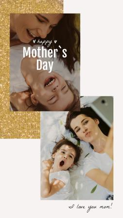 Plantilla de diseño de Mother's Day Smiling Mom and Daughter Instagram Video Story