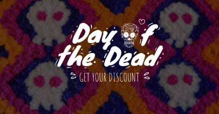 Template di design Dia de los muertos Offer Facebook AD