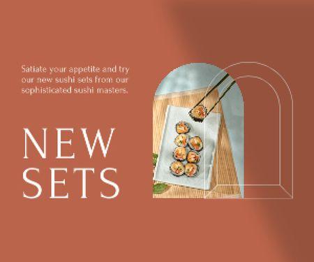 Template di design Sushi set offer Medium Rectangle
