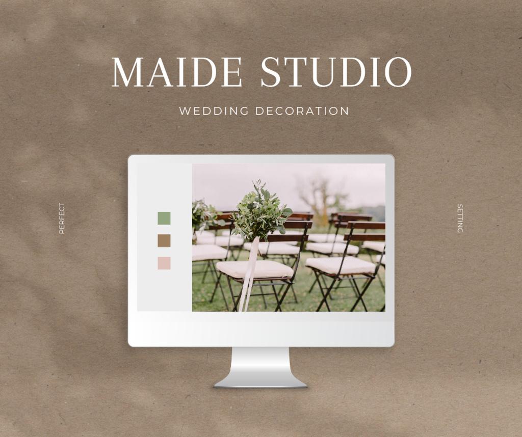 Wedding Decoration Services Offer Facebook Modelo de Design