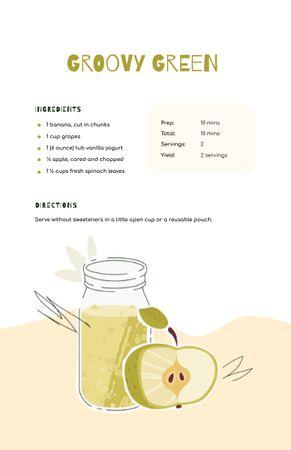 Apple Juice in Bottle Recipe Card – шаблон для дизайну