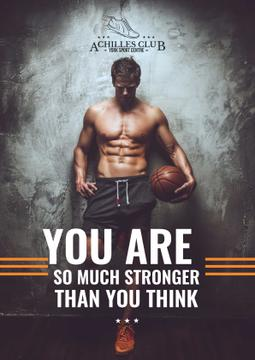 Sports Motivational Quote with Basketball Player