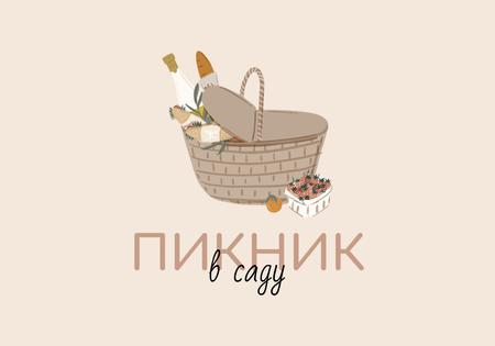 Plantilla de diseño de Picnic Basket with Food VK Universal Post