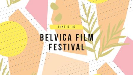 Film Festival Announcement on Abstract Pattern FB event cover Modelo de Design
