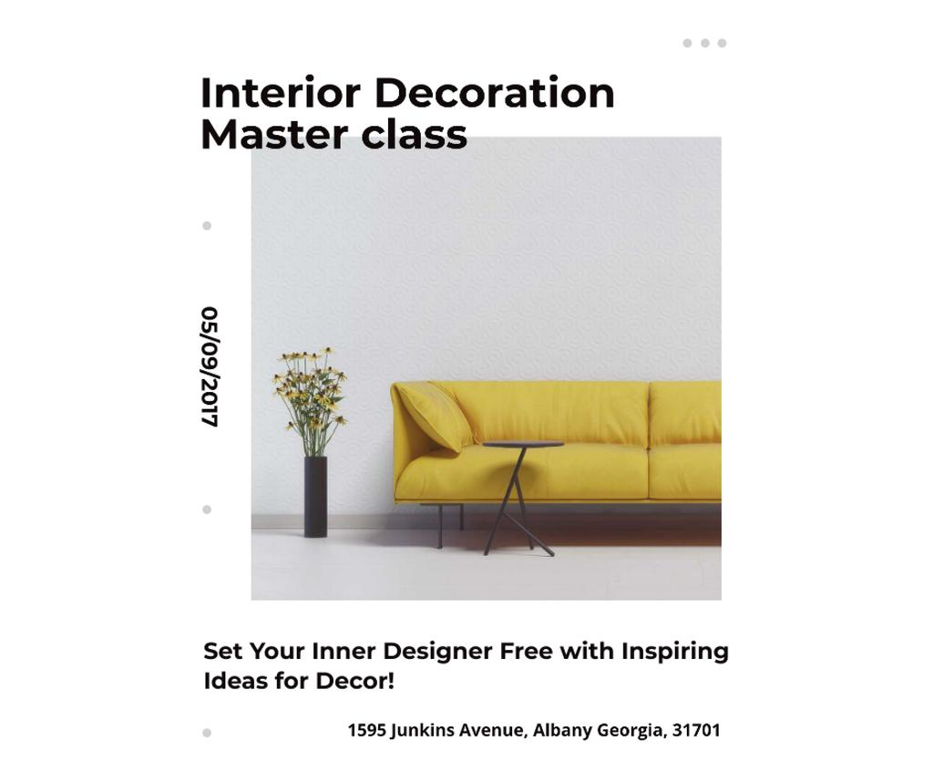 Interior decoration masterclass with Sofa in yellow — ein Design erstellen
