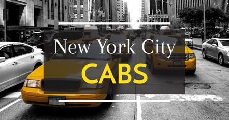 New York city cabs Facebook ADデザインテンプレート
