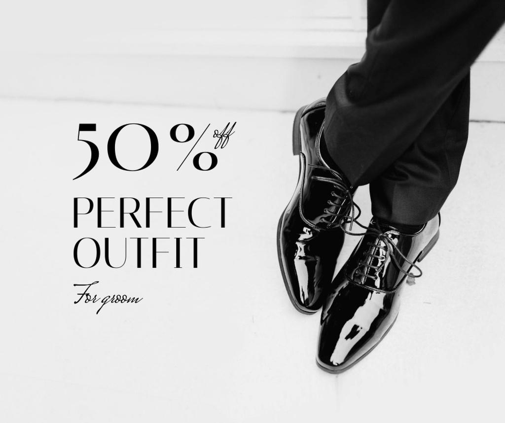 Modèle de visuel Wedding Outfit for Groom Discount Offer - Facebook