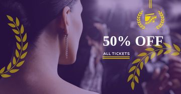 Festival Tickets sale with actress