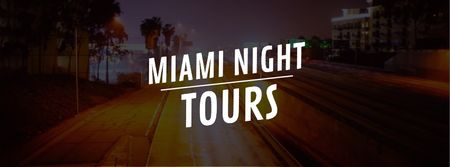 Plantilla de diseño de Night city traffic lights Facebook Video cover