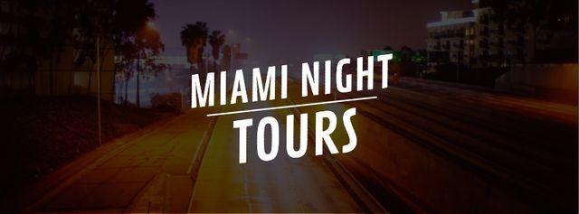 Night city traffic lights Facebook Video cover Modelo de Design