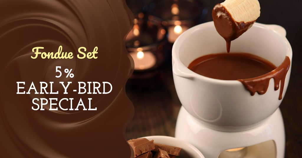 Hot chocolate Fondue dish — Crear un diseño