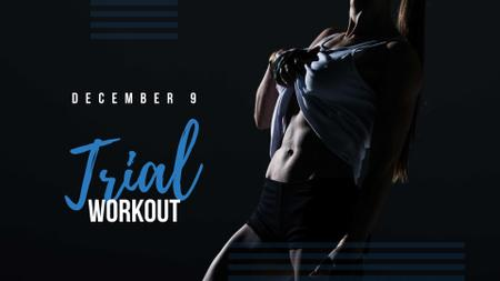 Designvorlage Workout Offer with Athlete Woman für FB event cover