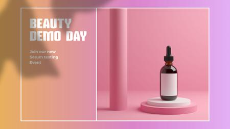 Template di design Cosmetics Testing day announcement FB event cover