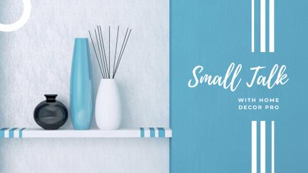 Vases for home decor in blue FB event cover – шаблон для дизайну
