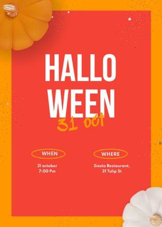 Halloween Celebration Announcement with Pumpkins Invitation – шаблон для дизайна