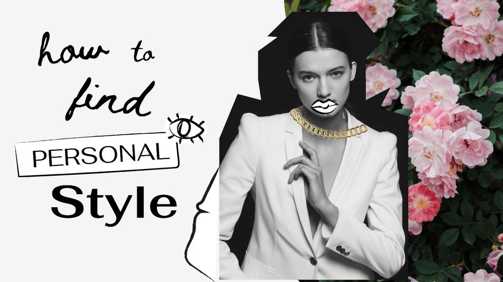 Modèle de visuel Fashion Blog Promotion with Stylish Young Girl - Youtube Thumbnail