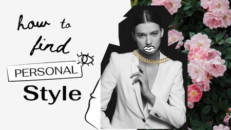 Fashion Blog Promotion with Stylish Young Girl Youtube Thumbnail – шаблон для дизайну