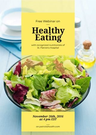 Template di design Healthy diet Vegetable salad Invitation