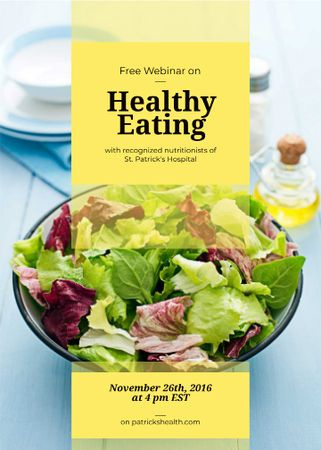 Plantilla de diseño de Healthy diet Vegetable salad Invitation