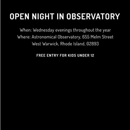 Plantilla de diseño de Open night in Observatory invitation Instagram AD