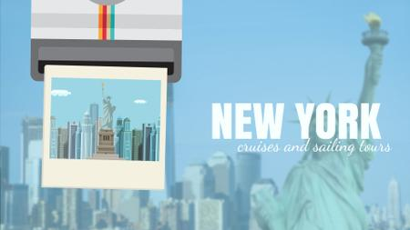 Ontwerpsjabloon van Full HD video van Tour Invitation with New York City