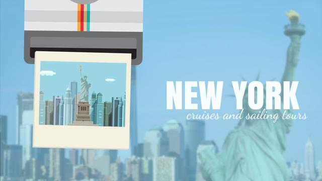Designvorlage Tour Invitation with New York City für Full HD video
