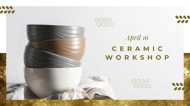Kitchen ceramic bowls FB event cover Tasarım Şablonu